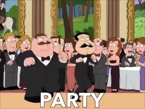 Watch this family guy GIF by GIF Queen (@ioanna) on Gfycat. Discover more amazing, awesome, bff, celebrate, dance, dancing, excited, exciting, family, family guy, funny, griffin, guy, lol, moves, party, partying, peter, quagmire GIFs on Gfycat