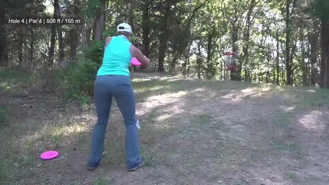 Watch Round Two 2018 Discraft's Great Lakes Open - Sarah Hokom hole 4 GIF by Benn Wineka UWDG (@bennwineka) on Gfycat. Discover more dgpt, disc golf, disc golf pro tour GIFs on Gfycat