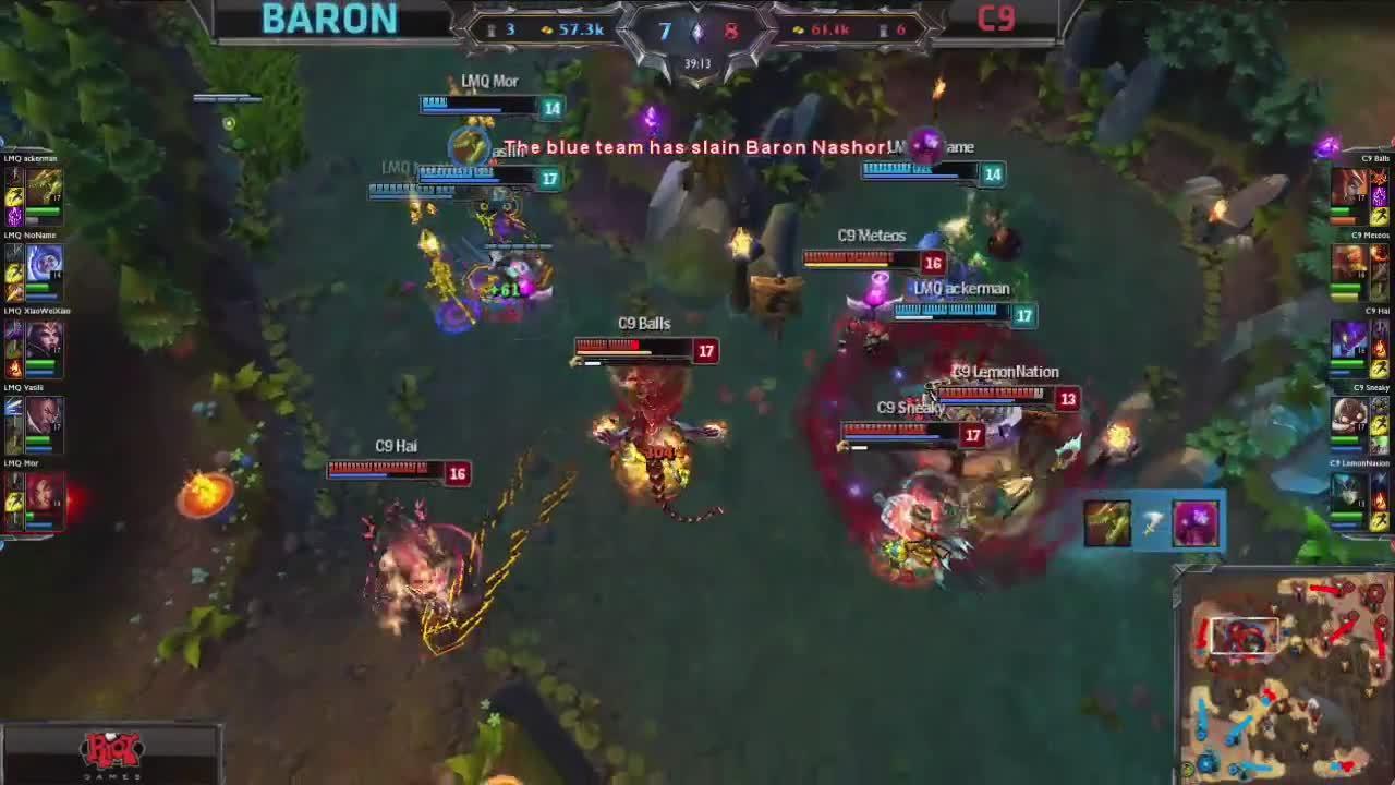 LMQ takes baron, and Cloud9 GIFs