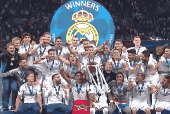 2018, celebrate, champion, excited, football, happy, league, madrid, priceless, real, spanish, tada, team, victorious, victory, win, winners, woohoo, yay, yeah, Real Madrid - Champions League winners 2018 GIFs