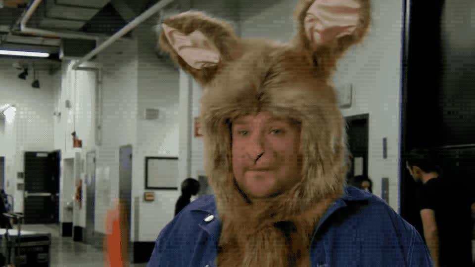 animal, animals, bunnies, bunny, carrot, corden, cute, funny, healthy, james, margot, meal, peter, rabbit, robbie, snack, James is Peter Rabbit GIFs