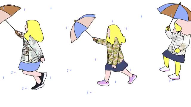 Watch and share Girl Skipping In The Rain. GIFs by terrible_pixels on Gfycat