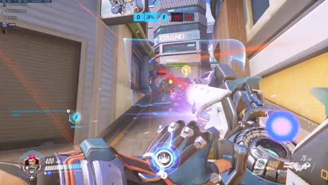 Watch and share Overwatch GIFs and Zarya GIFs by hennessey on Gfycat