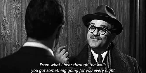 Watch this trending GIF on Gfycat. Discover more 1960, billy wilder, black and white, film, gif, gifset, jack lemmon, lol, made by me, movie, the apartment GIFs on Gfycat