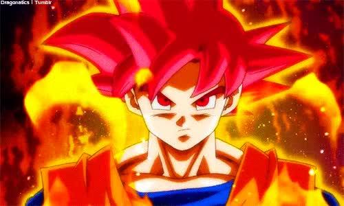 Watch and share Goku Ssj Dios Serio GIFs on Gfycat