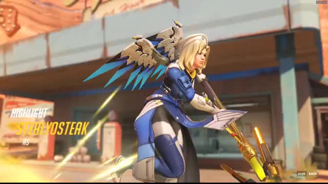 Watch and share Battle Mercy GIFs and Overwatch GIFs by stealyosteak on Gfycat