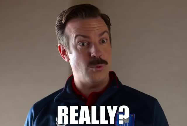 Watch and share Ted Lasso — Really? GIFs by Super GIF on Gfycat