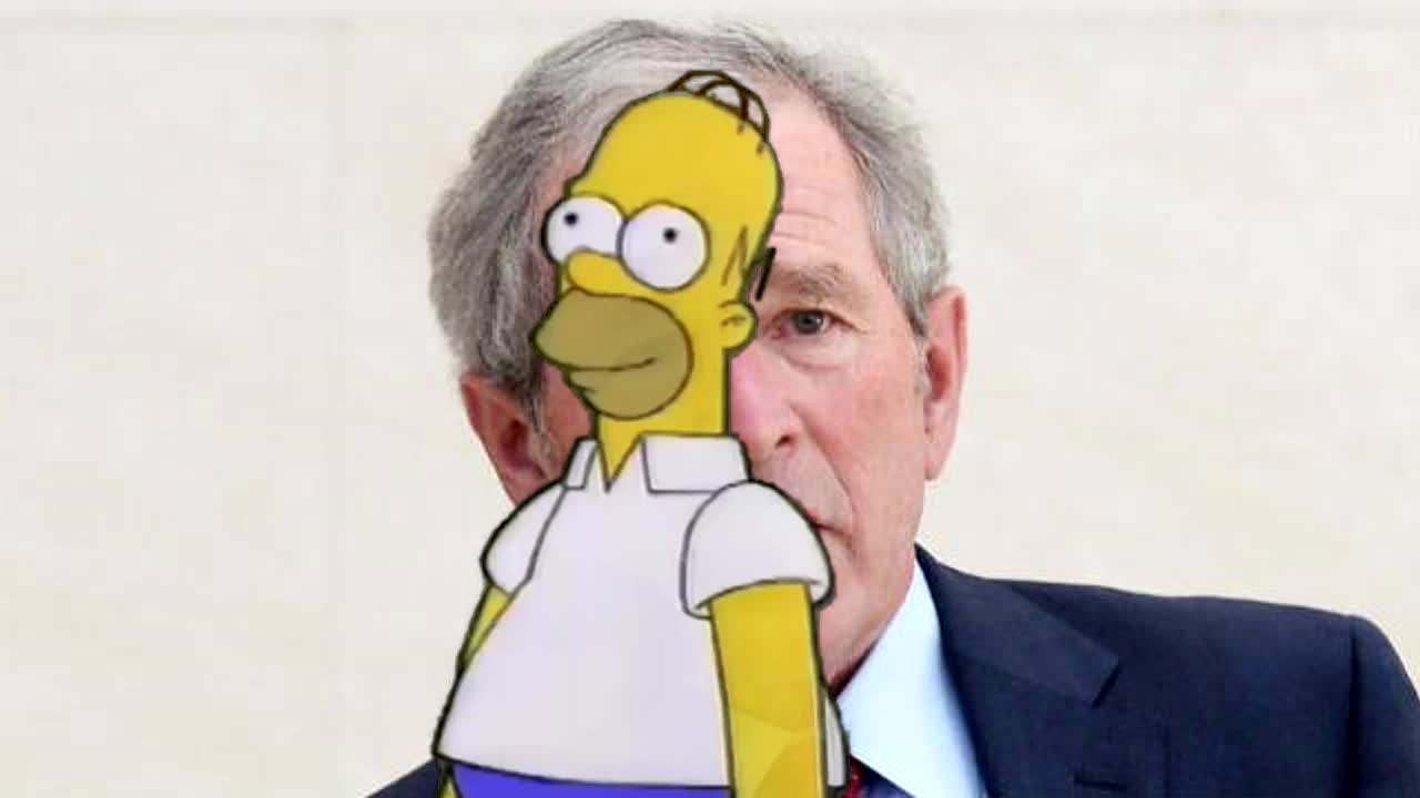 bush, george bush, george w. bush, politics, the simpsons, solves the 911 reference GIFs