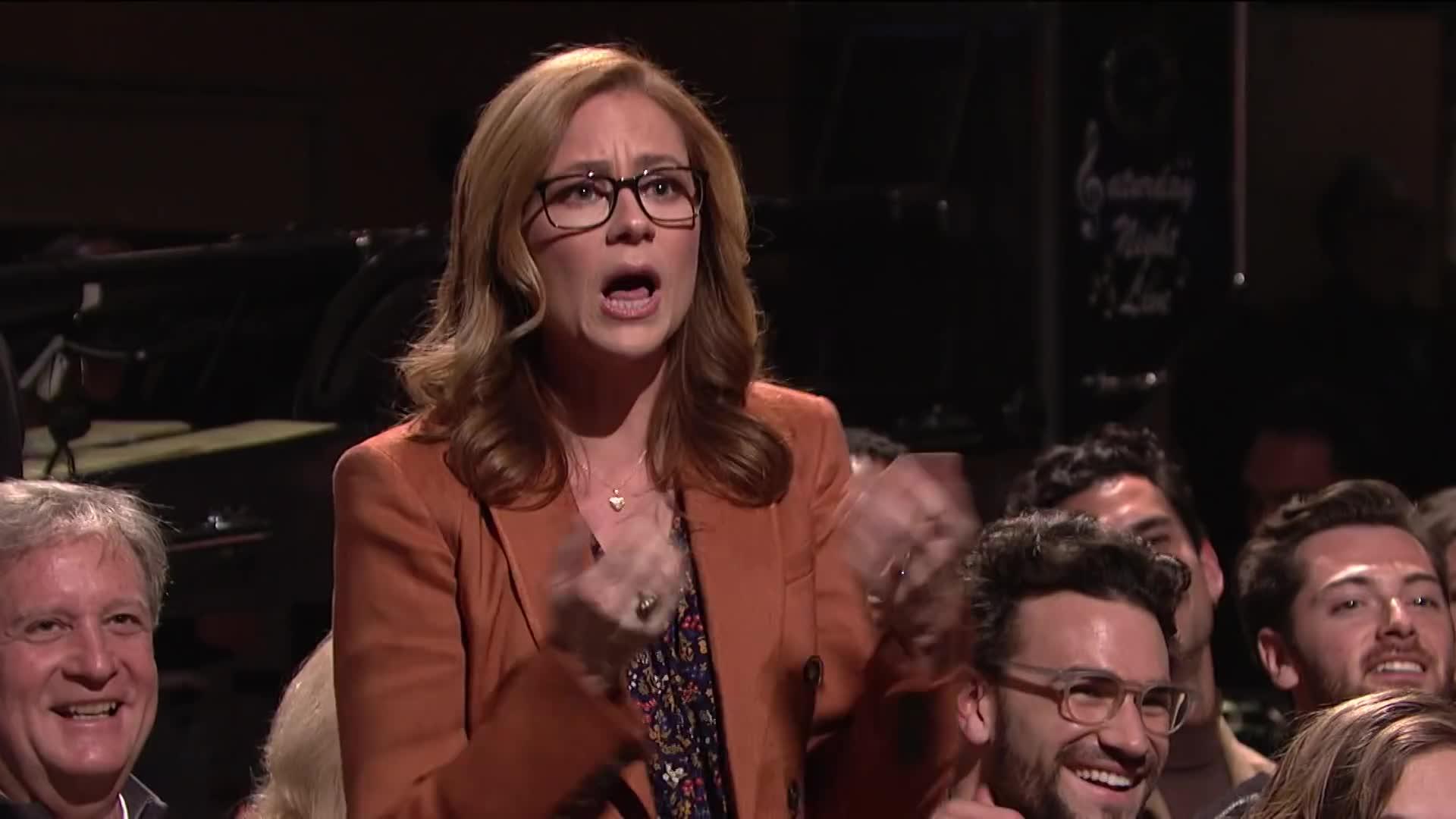 host snl, nbc, saturday night live, season 44, snl, snl 44, snl host, snl monologue, snl season 44, steve carell, Steve Carell Returns to SNL Monologue - SNL GIFs