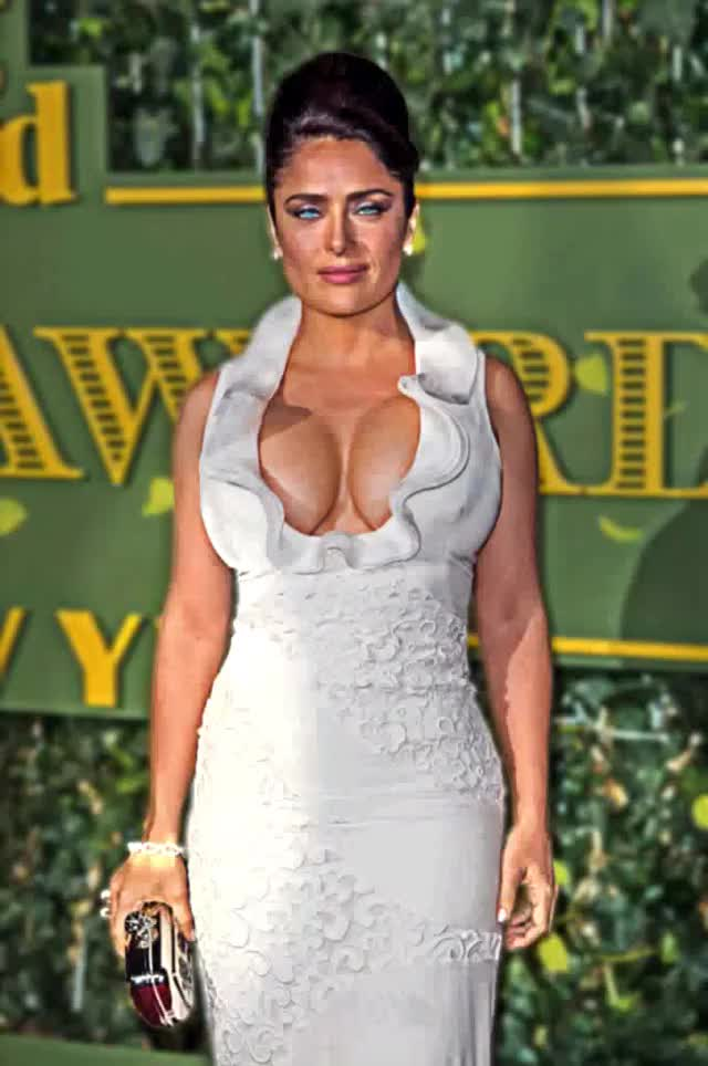 Watch and share Salma Hayek GIFs and Neckline GIFs by bear80 on Gfycat
