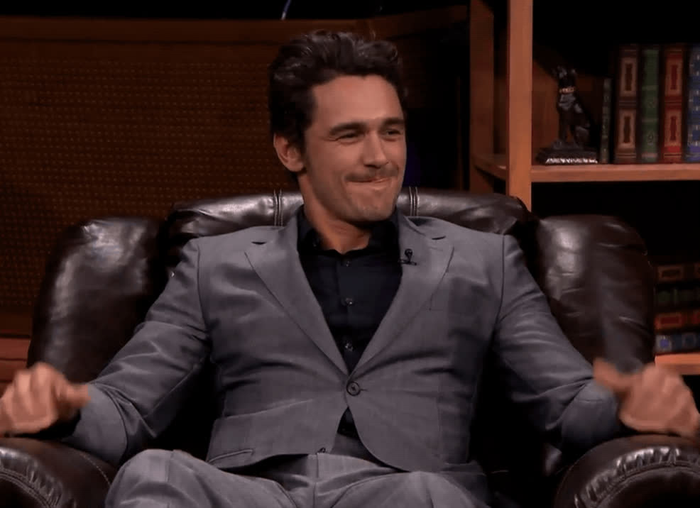 cool story bro, good job, james franco, nice, thumbs up, tonight show, yes, James Franco Thumbs Up GIFs