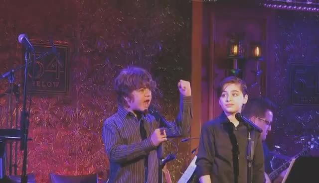 Joshua Colley performing at 54 Below GIFs