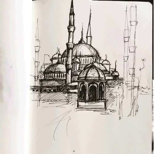 Watch and share Hagia Sophia GIFs and Sketchbook GIFs on Gfycat