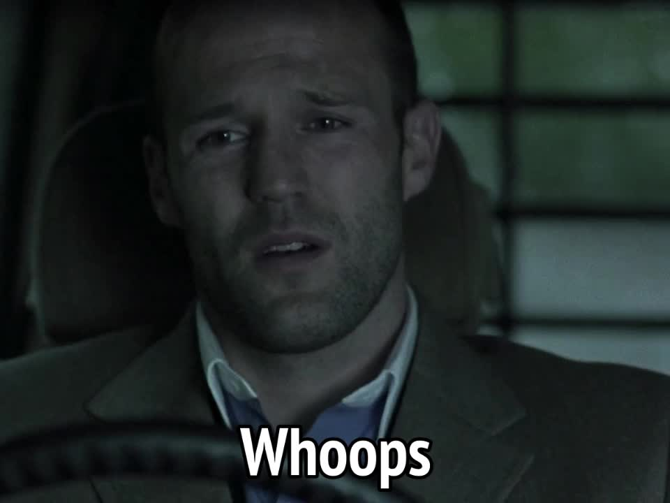 celebs, jason statham, oops, whoops, Snatch - Whoops GIFs