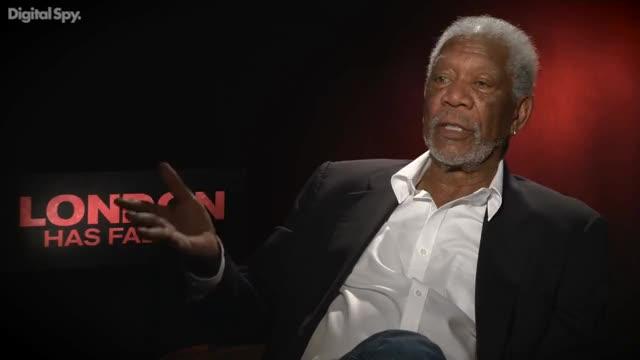 Watch Why did Morgan Freeman star in London Has Fallen? GIF on Gfycat. Discover more LionsGate, Money, Pay, funny, interview, movies GIFs on Gfycat