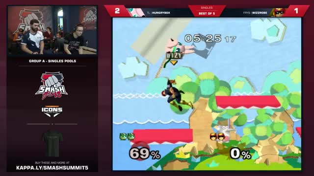 Hungrybox vs Wizzrobe - Melee Singles: Group A - Smash Summit 5