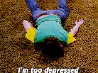 Watch and share Depressed, Im Too Depressed GIFs on Gfycat