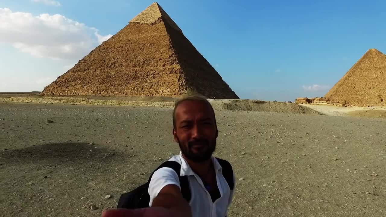 earthgifs, egypt (country), egyptian pyramids (structure), Travel the world,the pyramids,Giza Egypt by drone(phantom) 世界一周 GIFs