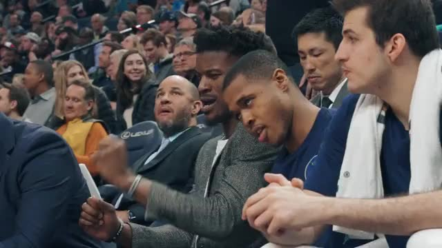 Watch and share Jimmy Butler Don't Care GIFs by whirledworld on Gfycat