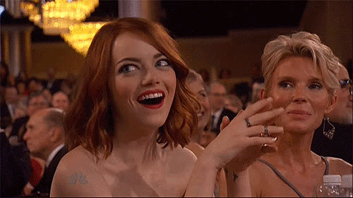 emma stone, Emma Stone Reacted All Sass World GIFs