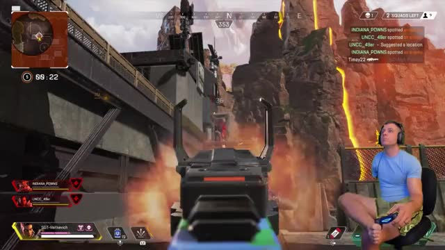 """This guy deserves nothing but respect. A one armed veteran going by the name of """"ToeYouUp"""" on Twitch getting his first Apex win. Incredible."""