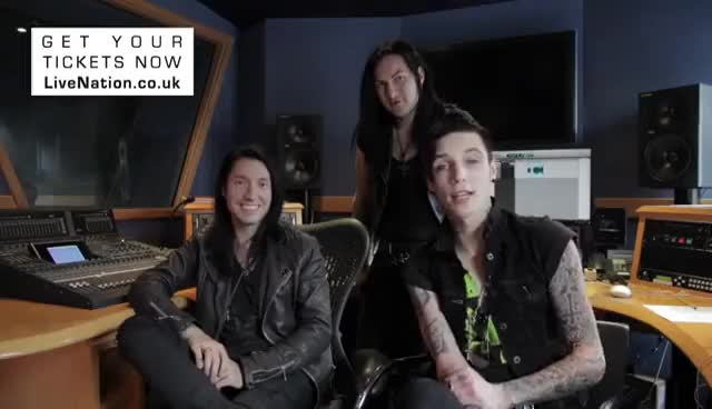 Watch and share Andy Biersack GIFs and Jake Pitts GIFs on Gfycat