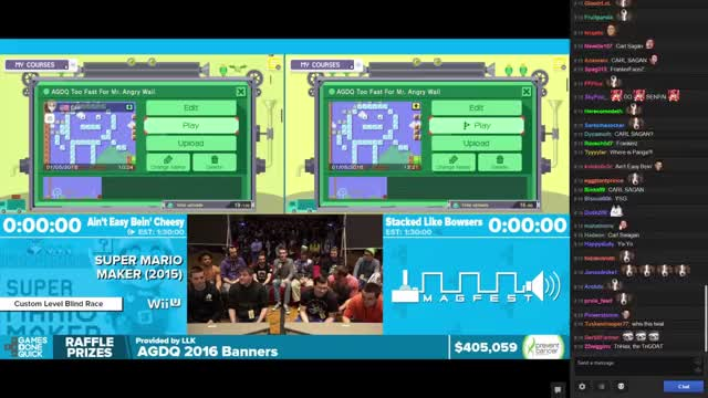 AGDQ 2016 Super Mario Maker Showcase w/ Chat