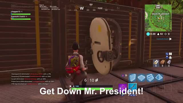 Watch Get Down Mr. President! GIF by Gamer DVR (@xboxdvr) on Gfycat. Discover more FortniteBattleRoyale, chapper15, xbox, xbox dvr, xbox one GIFs on Gfycat