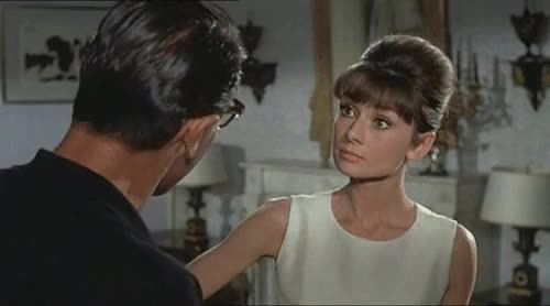 Watch In Love  With Audrey Hepburn GIF on Gfycat. Discover more 1960s, 60s, audrey hepburn, classic hollywood, cute, film, funny, my gif, my gifs, paris when it sizzles, smile, william holden GIFs on Gfycat