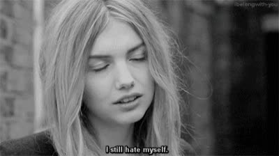 hannah murray, hate, haters gonna hate, i hate myself, I Still Hate Myself GIFs