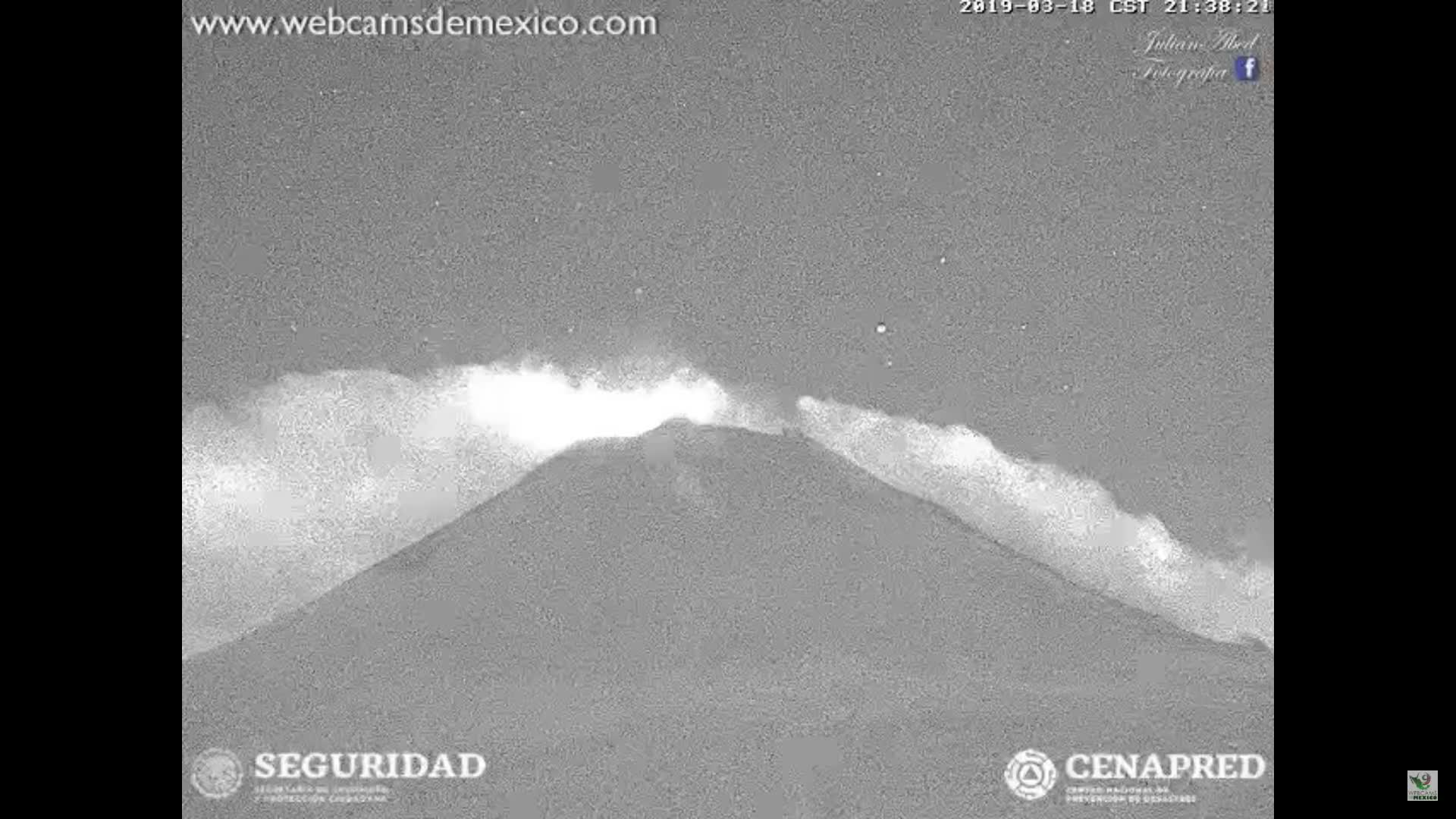 r/sciences, March 18, 2019 ~ Popocatepetl Explodes ~ Popocatepetl Volcano, Mexico GIFs