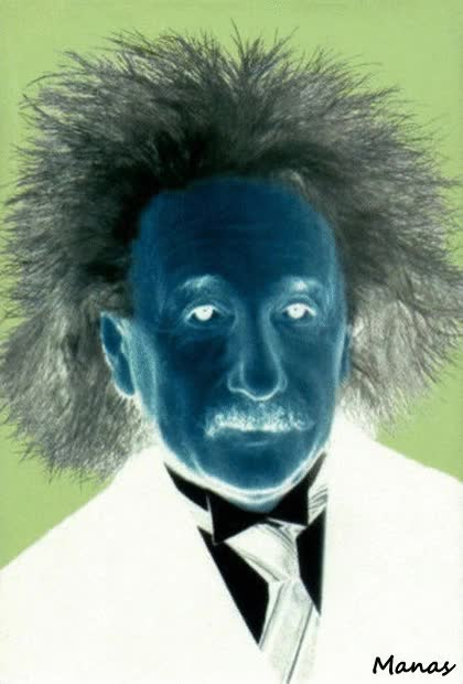 Watch and share Albert Einstein Negative Picture Optical Illusion GIFs on Gfycat