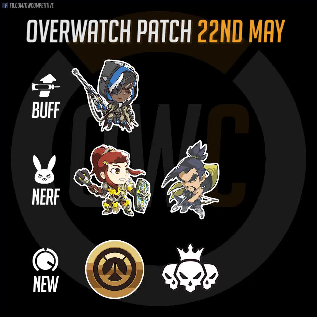 overwatch, patch, Overwatch Patch 22nd May 2018 GIFs