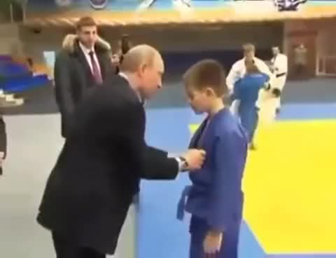 Watch and share Vladimir Putin Teaches Child Judo Technique To Throw A Giant GIFs on Gfycat