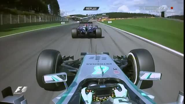 Watch Rosberg Uses Cadence Braking Into the Bus Stop Chicane in the Race at Belgium 2014 GIF on Gfycat. Discover more formula1 GIFs on Gfycat