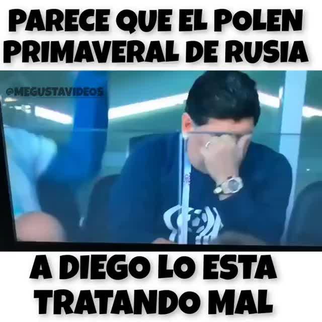 MARADONA Y EL POLEN DE RUSIA