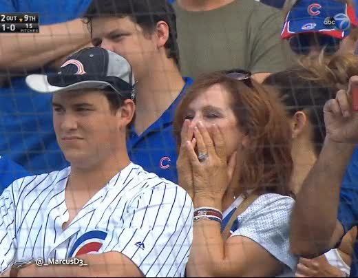 Watch and share Chicago Cubs Fan Reaction GIFs by MarcusD on Gfycat