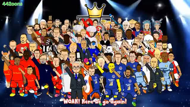 Watch this trending GIF on Gfycat. Discover more 17, 2016, 2017, 44200ns, 44toons, City, Footy, Highlights, League, Manchester, Scores, United, VS, chelsea, liverpool, preview, season, soccer, spoof, tottenham GIFs on Gfycat