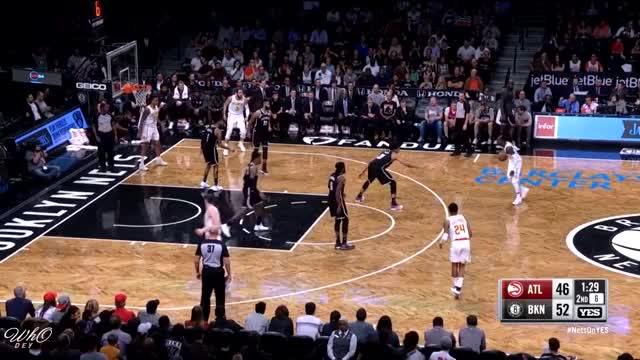 Watch and share JARRETT ALLEN Nasty 4 Block 4 Reb Highlights | 10.22.2017 Booklyn Nets Vs Atlanta Hawks GIFs on Gfycat