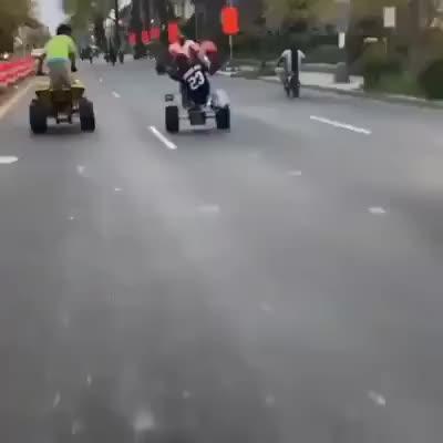 Idiots collide