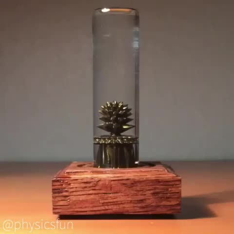 colloidal, conceptzero, electromagnetism, ferrofluid, fluiddynamics, goldferrofluid, magneticfield, magnetism, magnets, nanotree, neodymium, physics, physicsfun, physicstoy, science, scienceisawesome, surfacetension, The 'Nano Tree' by Concept Zero designs using gold colored ferrofluid which can be manipulated with a handheld magnet. GIFs