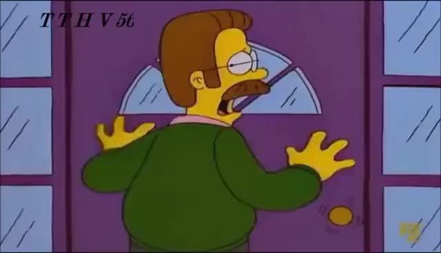 Watch and share Los Simpson--La Reacción De Ned Con Un Oso. GIFs on Gfycat