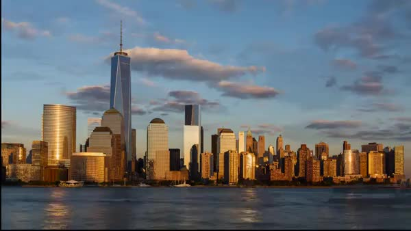 Stunning New York City skyline timelapse: Day to night