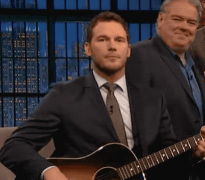 adios, bye, chris, cu, farewell, goodbye, guitar, later, lil, mayers, parks, pratt, recreation, sad, sebastian, see, seth, wave, waving, you, Chris Pratt - Bye bye GIFs