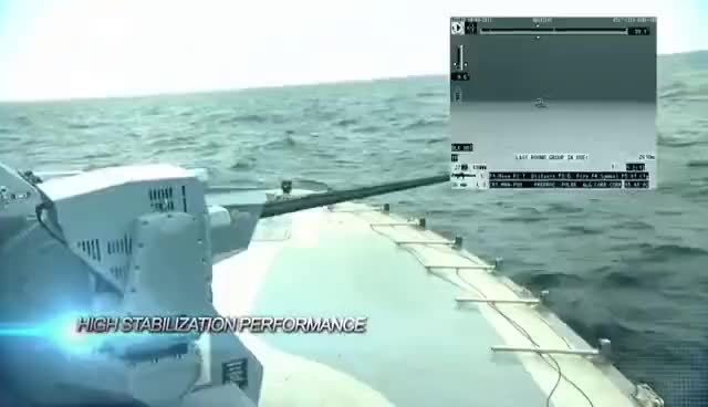 Watch and share ASELSAN | SMASH 30MM Remote Controlled Stabilized Naval Gun System GIFs on Gfycat