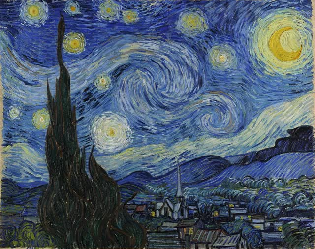 Watch and share The Starry Night GIFs and Vincent Van Gogh GIFs by Razmig on Gfycat