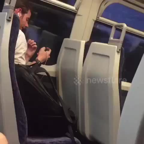 Watch Football fan quietly celebrates England victory on train GIF on Gfycat. Discover more Autos & Vehicles GIFs on Gfycat