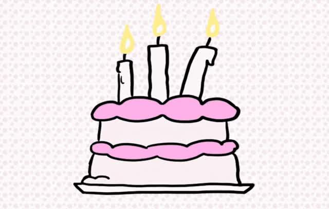 Watch this cake GIF by GIF Queen (@ioanna) on Gfycat. Discover more 3, a, best, birthday, cake, candles, celebrate, celebrating, confetti, happy, happy birthday, make, old, party, pink, surprise, tada, wish, wishes, years GIFs on Gfycat