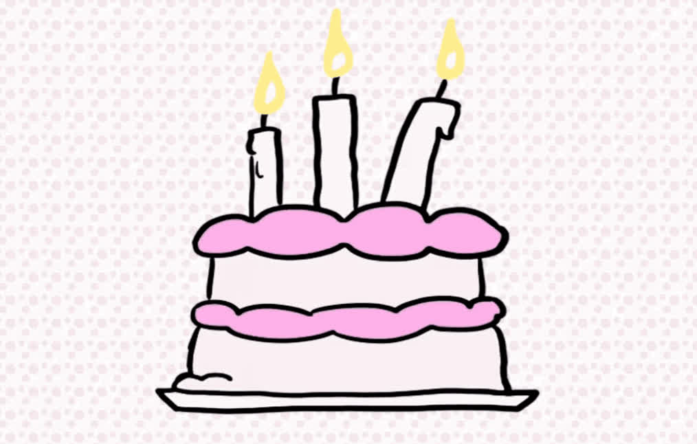 3, a, best, birthday, cake, candles, celebrate, celebrating, confetti, happy, happy birthday, make, old, party, pink, surprise, tada, wish, wishes, years, Happy birthday GIFs