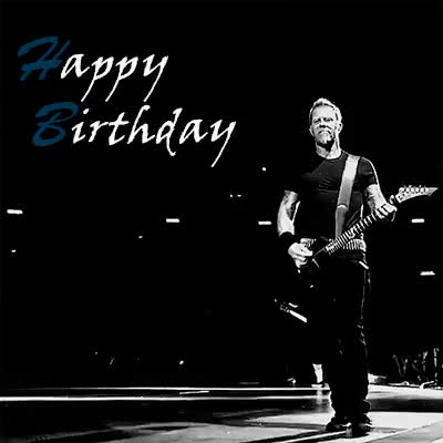 Watch and share Happy Birthday GIFs and Metallica Gifs GIFs on Gfycat